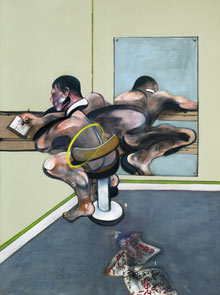 Francis Bacon's Figure Writing Reflected in Mirror, to be sold at Sotheby's New York