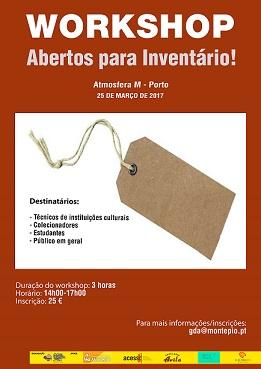 Workshop Inventario_Cartaz