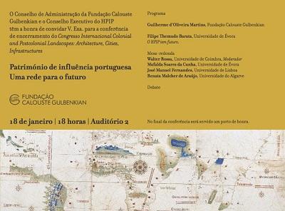 """Conferência """"Património de influência portuguesa. Uma rede para o futuro """""""