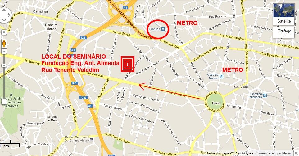 rua da boavista porto mapa SEMINÁRIO ROTAS E PERCURSOS CULTURAIS: COMO CHEGAR E OUTRAS  rua da boavista porto mapa
