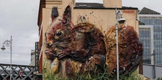 Esquilo, Bordalo II, Street Art, Dublin