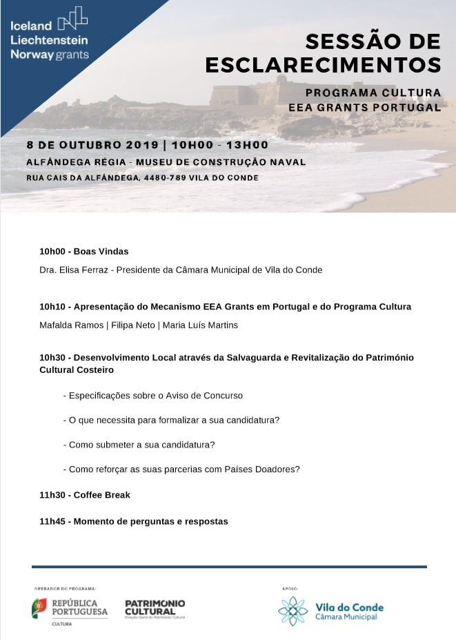 Sessão Esclarecimento EEAGRANTS Vila do Conde