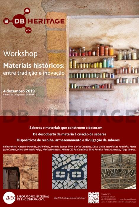 Workshop Materiais Históricos, LNEC, Lisboa