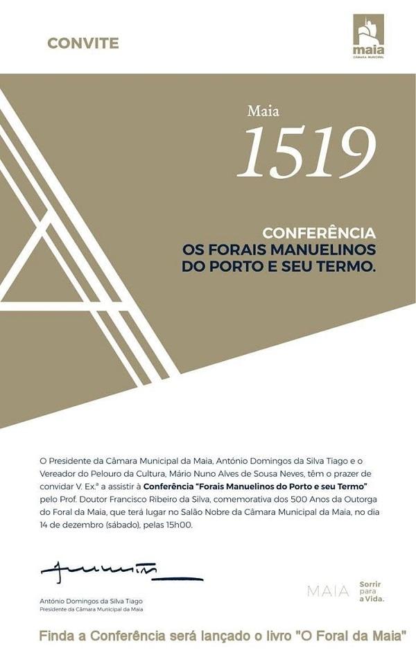 Conferência Forais Manuelinos, Porto