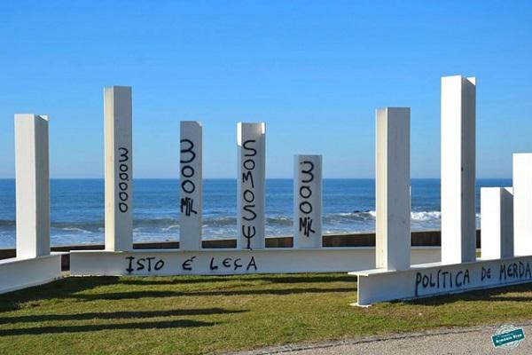 Escultura Pedro Cabrita Reis, Leça da Palmeira, Matosinhos