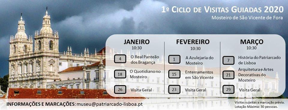 Ciclo Visitas Mosteiro São Vicente Fora, Lisboa